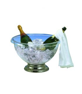 Transparent champagne bowl