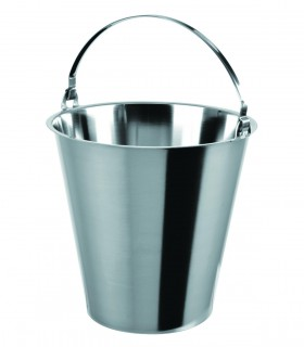 Graduated bucket without buttom stainless steel 15 L