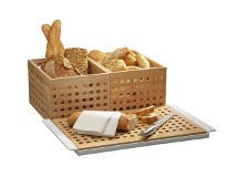 Baskets, boards and bread knives